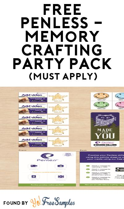 FREE Penless – Memory Crafting Party Pack (Must Apply To Host Tryazon Party)