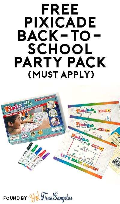 FREE Pixicade Back-to-School Party Pack (Must Apply To Host Tryazon Party)