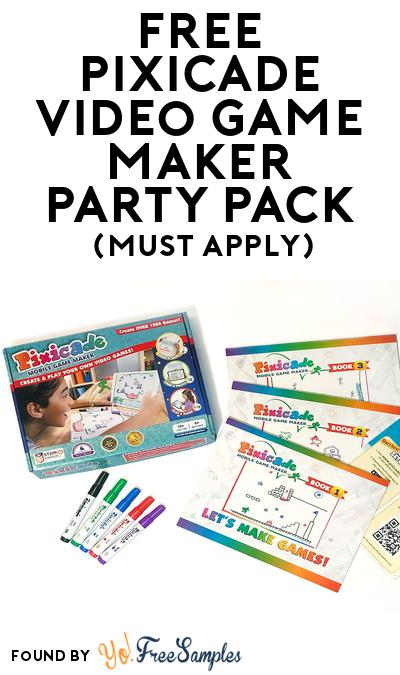 FREE Pixicade Video Game Maker Party Pack (Must Apply To Host Tryazon Party)