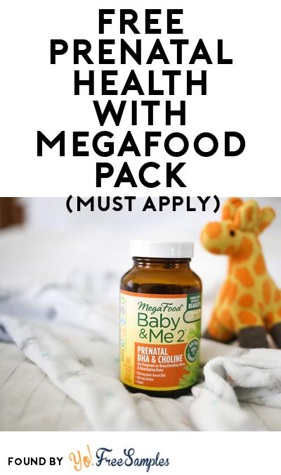 FREE Prenatal Health with MegaFood Pack (Must Apply To Host Tryazon Party)