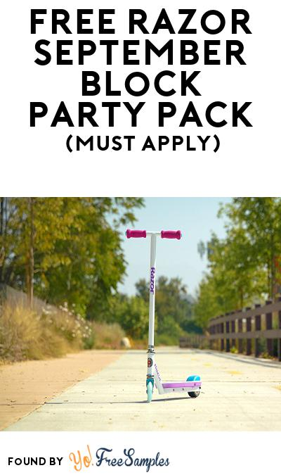 FREE Razor September Block Party Pack (Must Apply To Host Tryazon Party)