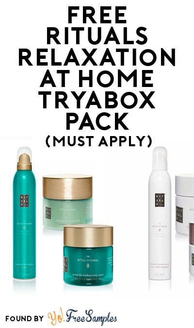 FREE Rituals Relaxation at Home TryaBox Pack (Must Apply To Host Tryazon Party)