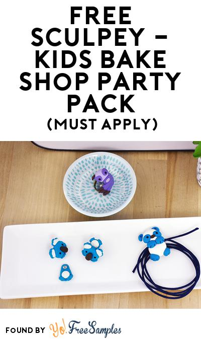 FREE Sculpey – Kids Bake Shop Party Pack (Must Apply To Host Tryazon Party)
