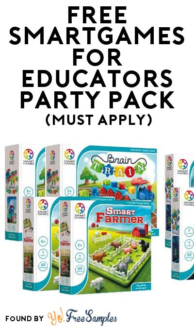 FREE SmartGames for Educators Party Pack (Must Apply To Host Tryazon Party)