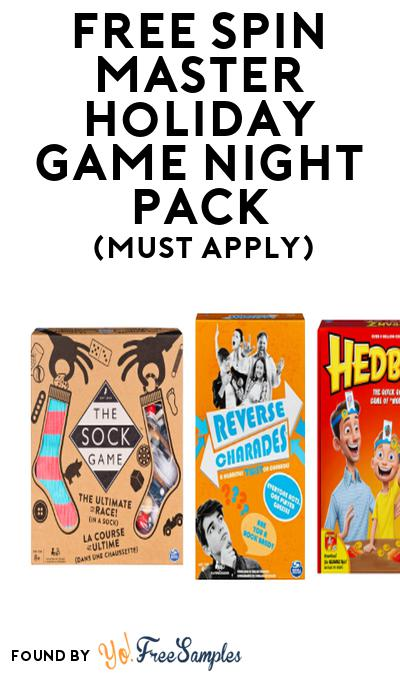 FREE Spin Master Holiday Game Night Pack (Must Apply To Host Tryazon Party)