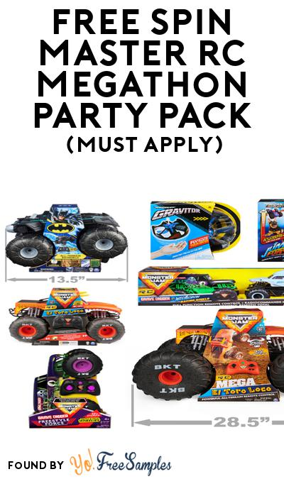 FREE Spin Master RC Megathon Party Pack (Must Apply To Host Tryazon Party)