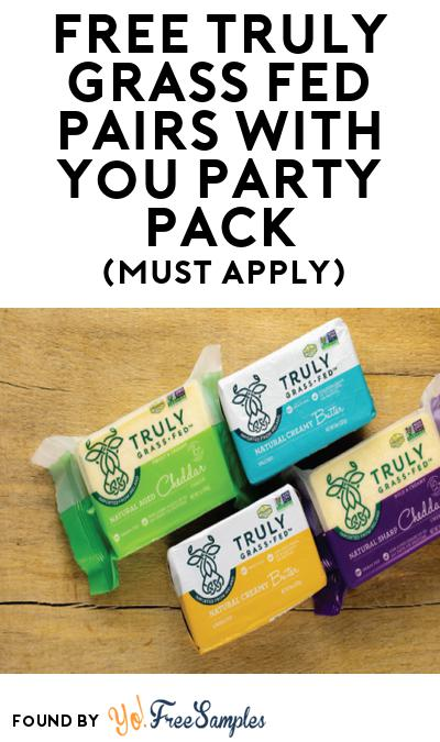 FREE Truly Grass Fed Pairs With You Party Pack (Must Apply To Host Tryazon Party)