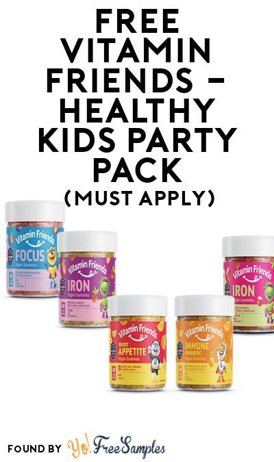 FREE Vitamin Friends – Healthy Kids Party Pack (Must Apply To Host Tryazon Party)