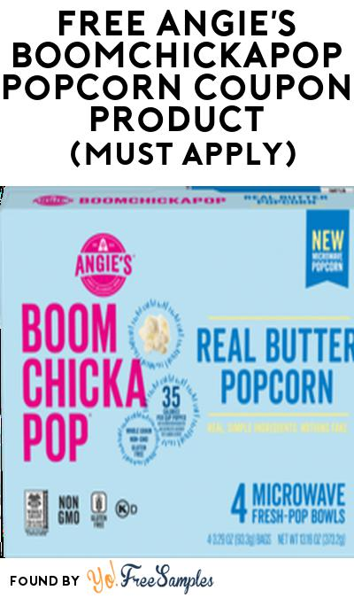 FREE Angie's BOOMCHICKAPOP Popcorn Coupon Product From Viewpoints (Must Apply)