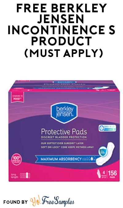 FREE Berkley Jensen Incontinence Product From Viewpoints (Must Apply)