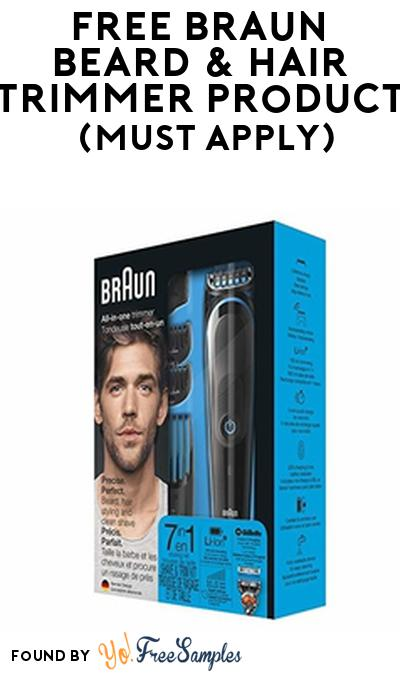 FREE Braun Beard & Hair Trimmer Product From Viewpoints (Must Apply)