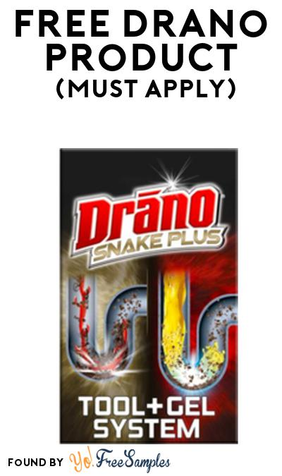 FREE Drano Product From Viewpoints (Must Apply)