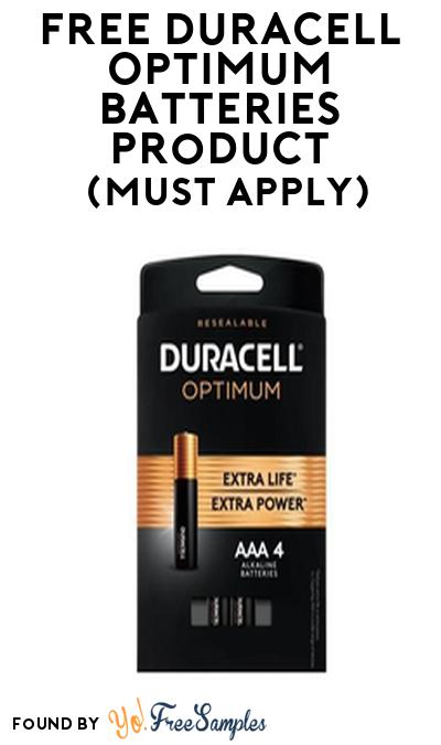 FREE Duracell Optimum Batteries Product From Viewpoints (Must Apply)