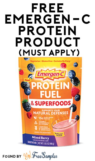 FREE Emergen-C Protein Product From Viewpoints (Must Apply)