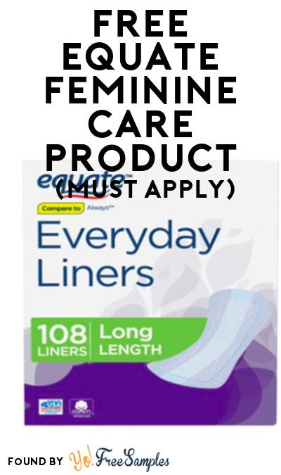 FREE Equate Feminine Care Product From Viewpoints (Must Apply)