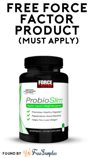 FREE Force Factor Product From Viewpoints (Must Apply)