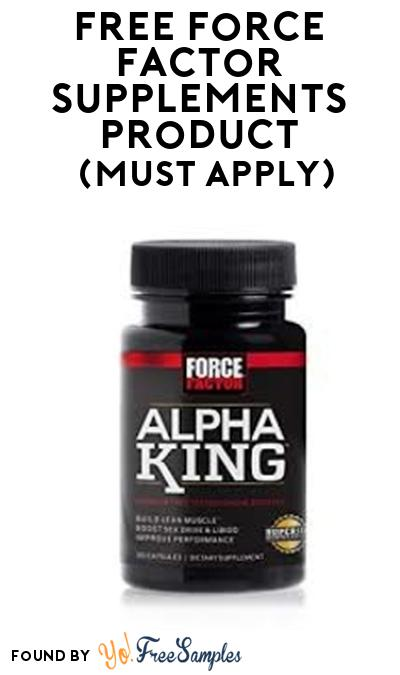 FREE Force Factor Supplements Product From Viewpoints (Must Apply)