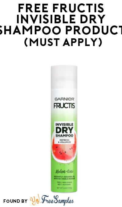 FREE Fructis Invisible Dry Shampoo Product From Viewpoints (Must Apply)