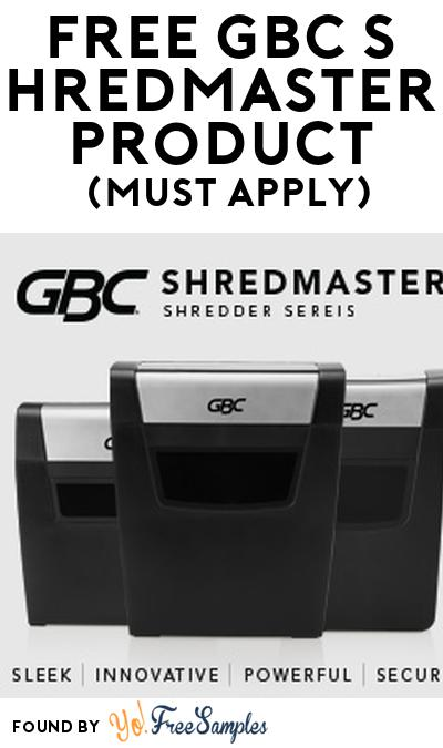 FREE GBC ShredMaster Product From Viewpoints (Must Apply)
