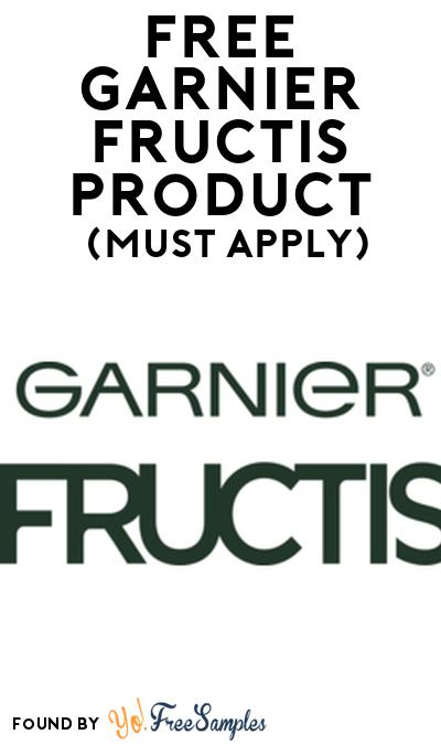 FREE Garnier Fructis Product From Viewpoints (Must Apply)