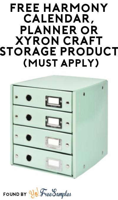 FREE Harmony Calendar, Planner or Xyron Craft Storage Product From Viewpoints (Must Apply)