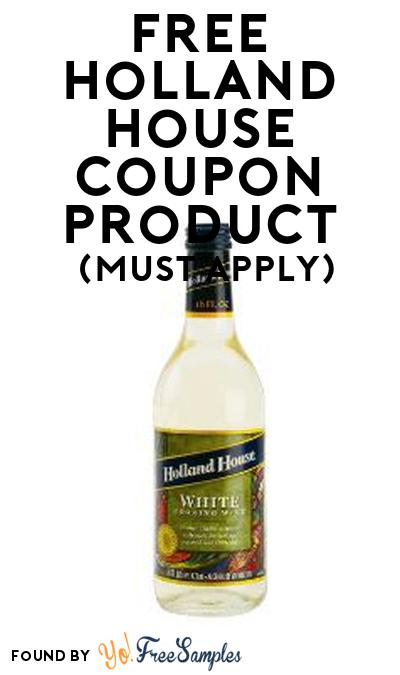 FREE Holland House Coupon Product From Viewpoints (Must Apply)