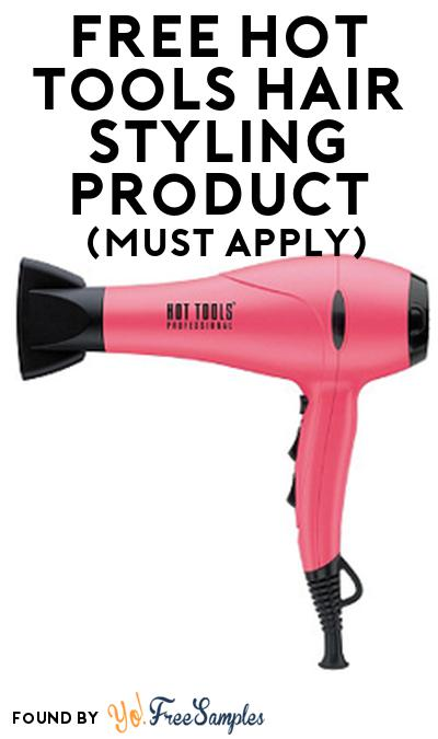 FREE Hot Tools Hair Styling Product From Viewpoints (Must Apply)