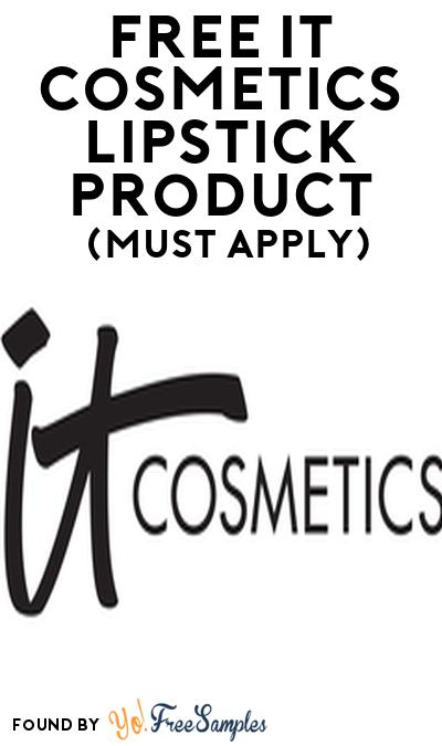 FREE IT CosmeticsLipstick Product From Viewpoints (Must Apply)