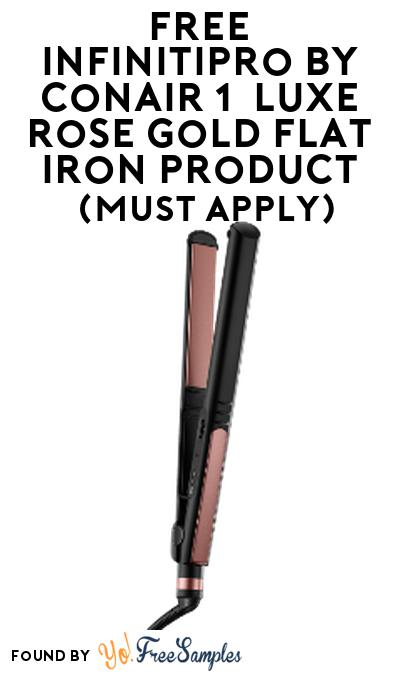 """FREE InfinitiPro by Conair 1"""" Luxe Rose Gold Flat Iron Product From Viewpoints (Must Apply)"""