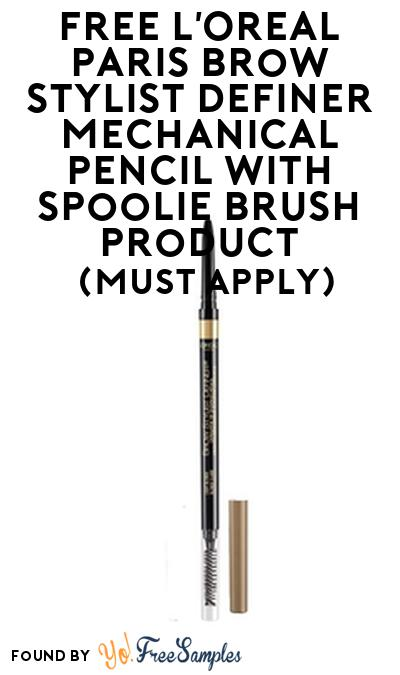 FREE L'Oreal Paris Brow Stylist Definer Mechanical Pencil with Spoolie Brush Product From Viewpoints (Must Apply)
