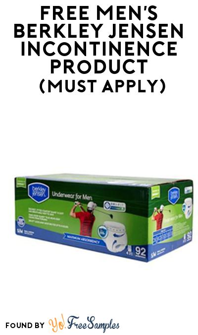 FREE Men's Berkley Jensen Incontinence Product From Viewpoints (Must Apply)