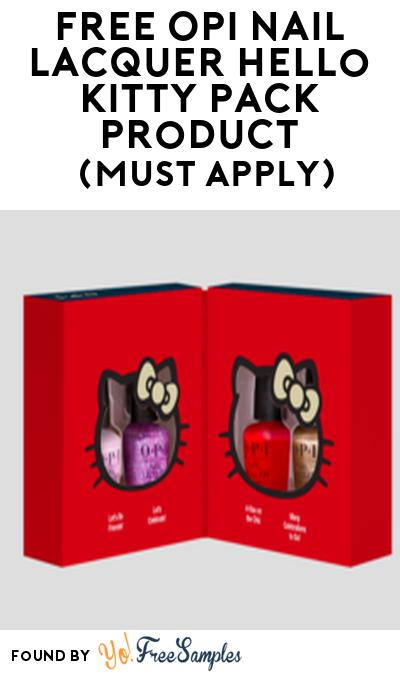 FREE OPI Nail Lacquer Hello Kitty Pack Product From Viewpoints (Must Apply)