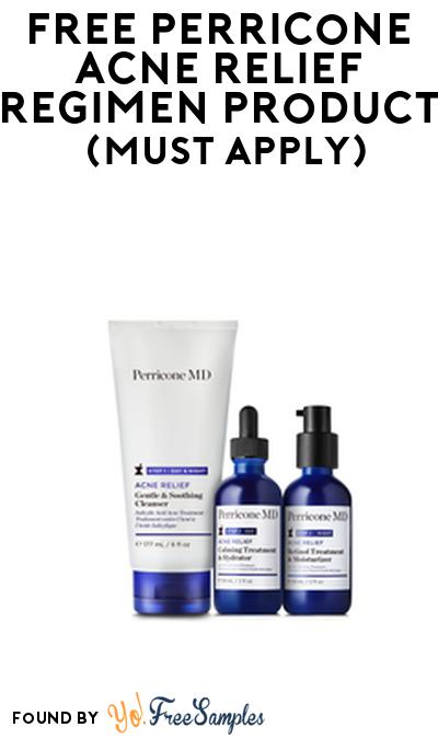 FREE Perricone Acne Relief Regimen Product From Viewpoints (Must Apply)