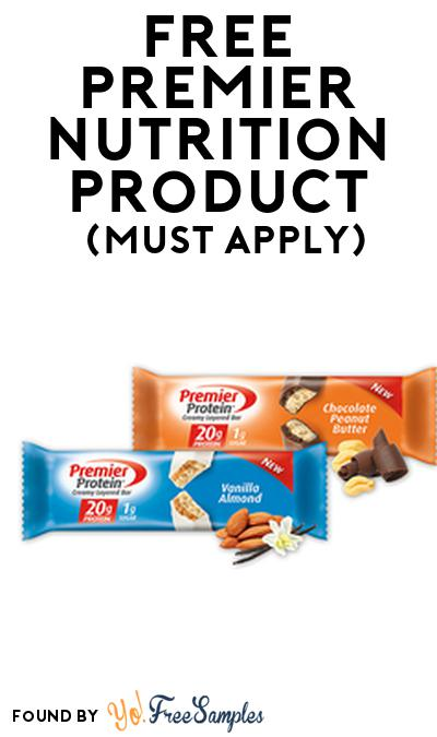 FREE Premier Nutrition Product From Viewpoints (Must Apply)