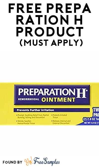 FREE Preparation H Product From Viewpoints (Must Apply)