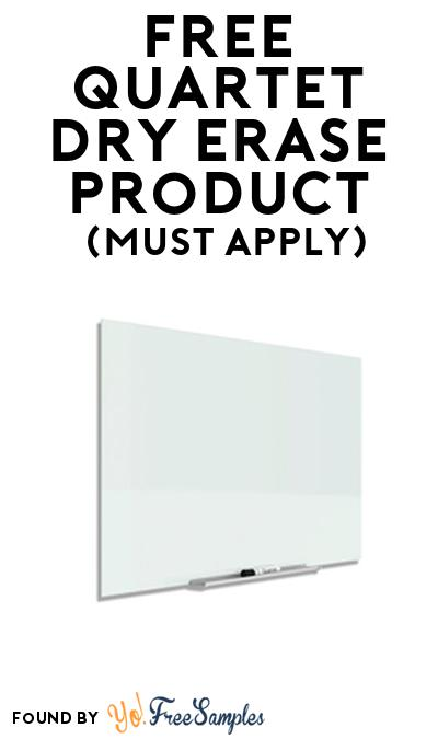 FREE Quartet Dry Erase Product From Viewpoints (Must Apply)