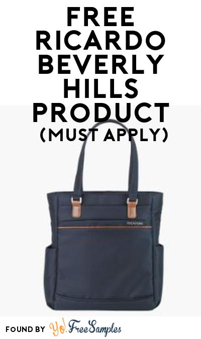 FREE Ricardo Beverly Hills Product From Viewpoints (Must Apply)