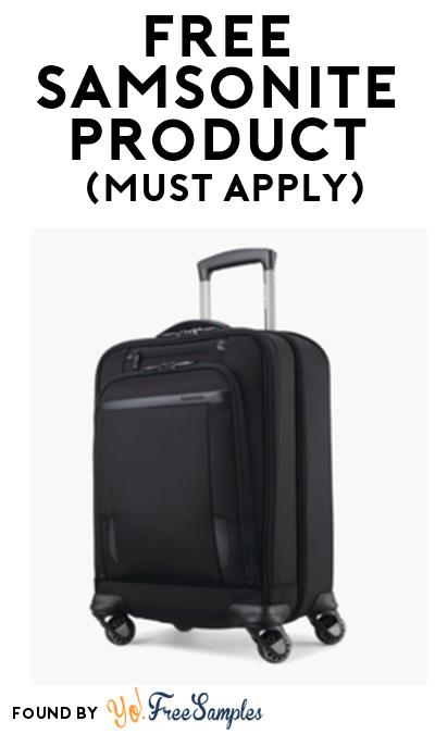 FREE Samsonite Luggage Product From Viewpoints (Must Apply)