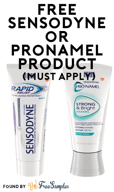 FREE Sensodyne or Pronamel Product From Viewpoints (Must Apply)