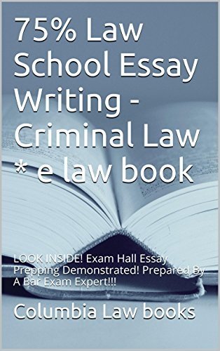 criminal law essay exam Criminal law (15th edition), qq 114 and 139 model penal code, q 2 102 in the absence of facts excusing the homicide or reducing it to voluntary manslaughter.