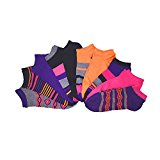 [954865-MLT-9/11W] Women's Casual Socks - 10 Pairs No Show Low Cut Variety Pack