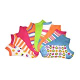 [954873-Assorted-9.11] Women's 10 Pack Fun Patterns & Colors No Show Liner Socks