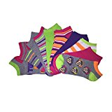 [954878-MLT-9/11W] Women's Casual Socks - 10 Pairs No Show Low Cut Variety Pack