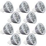10-Pack MR16 4W LED Bulb JACKYLED Warm White 3000K 4W = 40W Equivalent Ultra Bright 60 Degree Beam Angle Recessed Track Light 360 Lumens Standard MR16 Spot Lights & Lamp