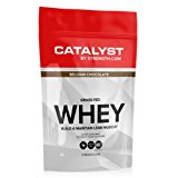 100% ALL NATURAL Grass Fed Whey Protein (2.02 lbs), Fully transparent, NSF Certified for Sport, Belgian Chocolate, 100% Naturally Sweetened, CATALYST by Strength.com