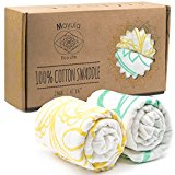 100% Muslin Cotton Swaddle Blankets: Wrap Your Baby with Pure Joy. Boy & Girl Babies Swaddlers. Soft Swaddling & Receiving Blanket. Kids Bedding & Burp Cloth. Bed, Stroller, Changing & Nursing Cover