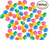 144 Easter Eggs - Bright Colored Eggs - Packaged 12 Eggs In A Net - Easter Party Favors