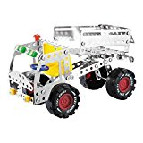 3D Assembly Metal Truck Vehicles Model Kits Toy Car Building Play Set for Kids Children Boys and Girls 6 7 8 Years Old, 192 Pcs