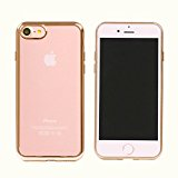 80BOY Ultra-thin Transparent Enhanced Grip Electroplating Case for iPhone 7 (Gold) - Retail Package