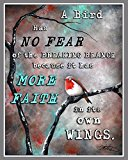 A Bird Has No Fear of the Breaking Branch Because It Has More Faith in Its Own Wings: Blank Lined Journal